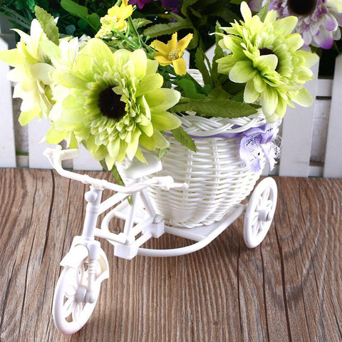 Tricycle Bike Design Flower Basket For Flower Plants