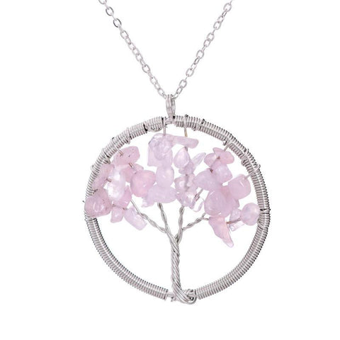 Image of 7 Chakras Amethyst Tree Of Life Necklace Free Offer - $0.00