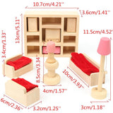 Wooden Delicate Dollhouse Furniture Miniature Toys