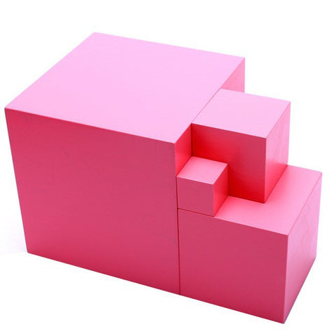 Image of Montessori Wooden Building Blocks Educational Toy