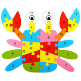 Wooden Animal Alphabet Early Learning Puzzle - 10 Patterns - FREE Offer - $0.00
