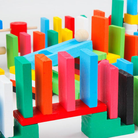 Image of 100pcs Domino Wooden Building Blocks Giveaway
