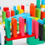 100pcs Domino Wooden Building Blocks