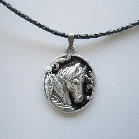 Horse Spirit Amulet Necklace