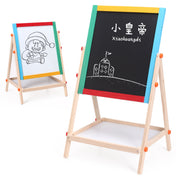 Wooden Double-sided Magnetic Drawing Easel Board