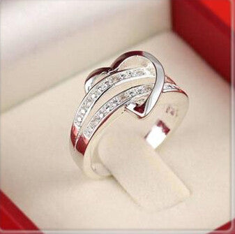 Image of Zircon Heart Wedding Ring