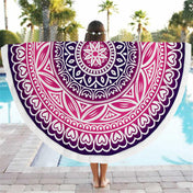 Round Flower Hearts Beach Throw