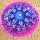 Mandala Night Flower Beach Blanket