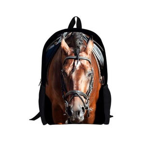 3D Horse Printed Backpack for Boys and Girls