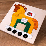 Wooden 3D Animals Puzzle Educational Toy