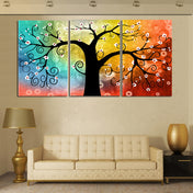 Color Therapy Tree Canvas
