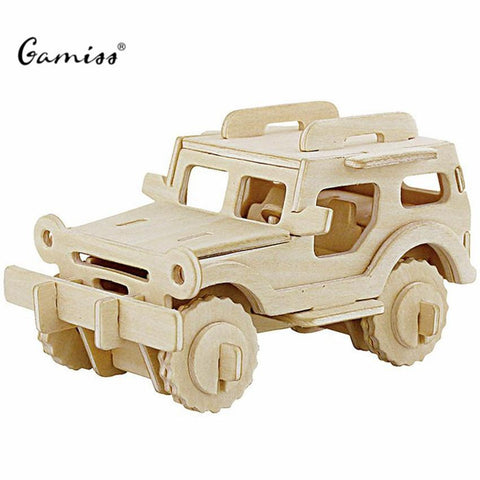3D Wooden Vehicles Puzzle for Children and Adults - Free Offer - $0.00