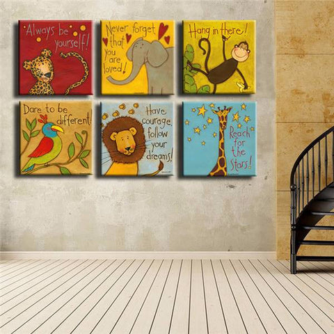 Image of Always Remember You Are Loved - Kids Room Wall Canvas Set