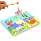 Wooden Magnetic Fishing Puzzle Board
