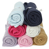 Happy Colors Super Soft Cotton Crochet Baby Blankets