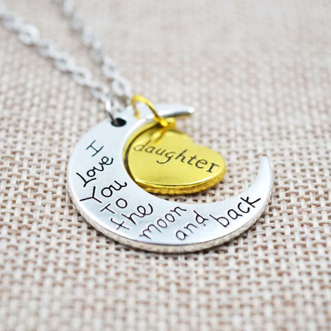 Image of I Love You To The Moon And Back Grandma Necklace Giveaway