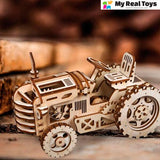 My Wind Up Tractor™ -  The Ultimate 3D Wooden Model Building Kit