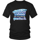 Surfing Is The Answer - Black