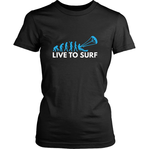 Live The Kite Surf - Black