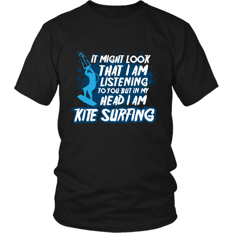 In My Head I am Kite Surfing - Black