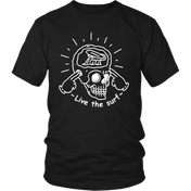 Live The Surf Skull - Black