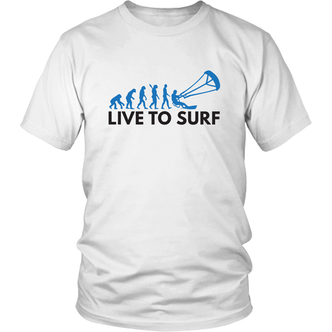 Live The Kite Surf - White