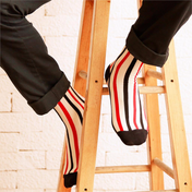 Check These Out! Men's Vertical Stripes Socks