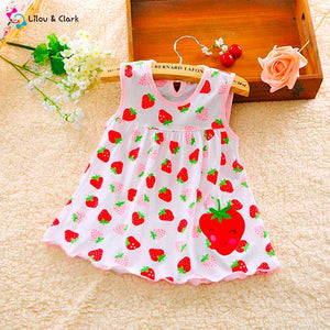 Cute Strawberry Baby Girl's Dress