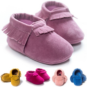 Suede Delight™ Baby Moccasins - Free Shipping