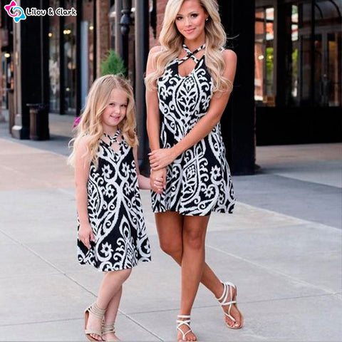 Image of Beautiful Summer Dress For Mommy and Me