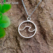 Wave Force Silver Pendant