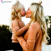 Off Shoulder Long Sleeve Sweater For Mommy and Me