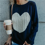 Women Casual Heart You Sweater