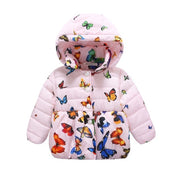 Vibrant Butterflies Baby Girl's Winter Coat