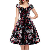 Swing Rockabilly Skull Dress