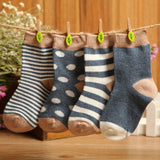 Stripes and Dots Baby Socks 4 pairs set