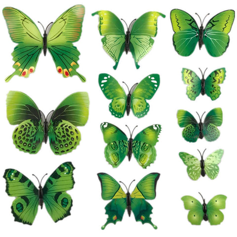 Image of Butterfly 3D Stickers - 12pcs