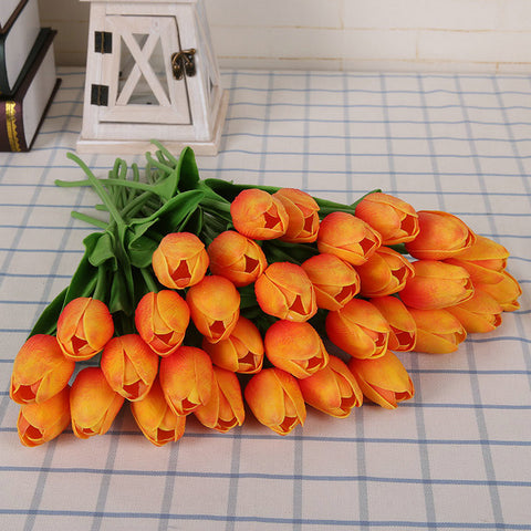 Image of Artificial Real Touch Tulips - 31pcs bouquets