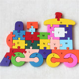 Double Sided Wooden Alphabet and Numbers Puzzle