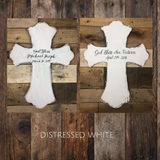 Dios Bendigas name cross keepsake gift- for mi bautizo, baptism, gift for new parents, baby Boy/Girl wall hanging, spanish, god parent - Rustic Restyle