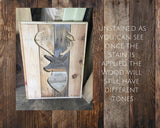 Pallet Wood Deer Silhouette - Rustic Country Hunting Trophy Sign Gift for Him - Rustic Restyle