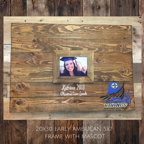 24x36 Wood pallet Graduation sign, Graduation decor, Framed Photo guestbook, graduation gift, class of 2019, keepsake, wooden guest book - Rustic Restyle