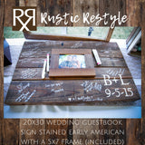 Guest book frame, Photo Guestbook sign, Wedding initials sign, rustic wedding decor, Custom wedding gift, wood sign wedding, pallet wall art - Rustic Restyle