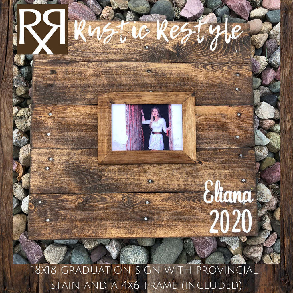 graduation guest book, party book, Creative Guest book alternative, class of 2020, guestbook frame, rustic sign, wood pallet sign, 18x18 - Rustic Restyle