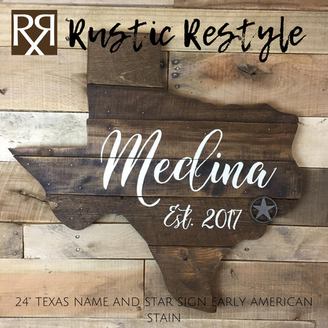 Last name wood sign, pallet sign wall art, wood state art, new home wood sign, rustic home decor, wooden Texas sign, pallet signs, signage - Rustic Restyle