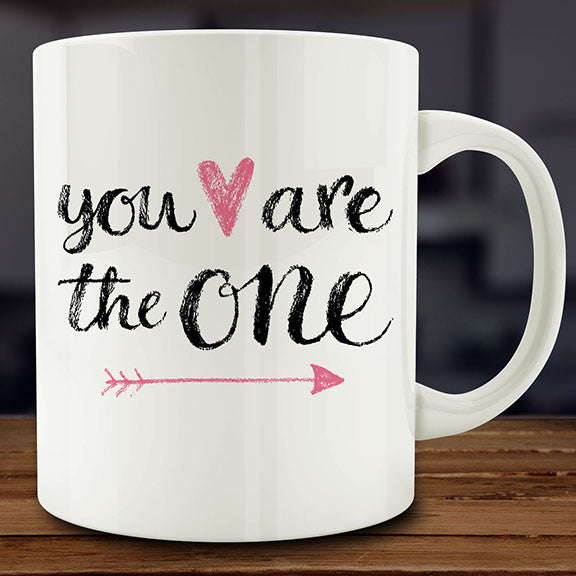 You Are the One mug, valentines anniversary gift 11 oz coffee tea