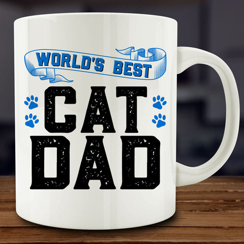World's Best Cat Dad Mug, dog lover gift 11 oz coffee tea