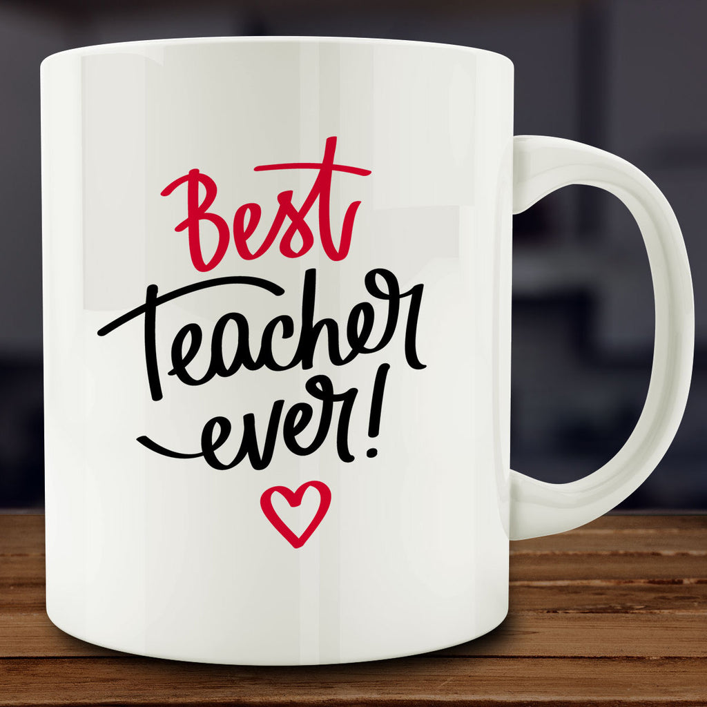 Best Teacher Ever Mug, school gift for teacher 11 oz coffee tea mug
