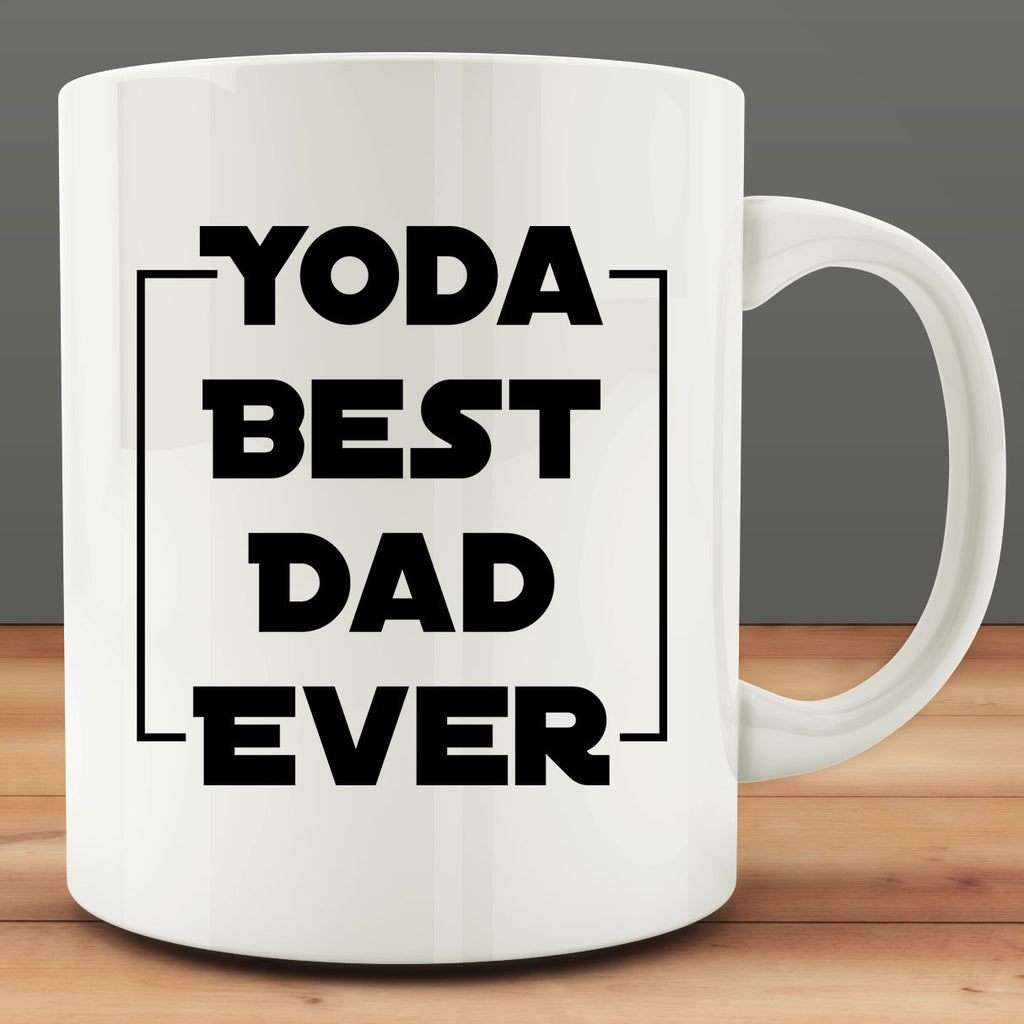 Yoda Best Dad Ever Mug, gift for fathers day 11 oz ceramic coffee tea mug