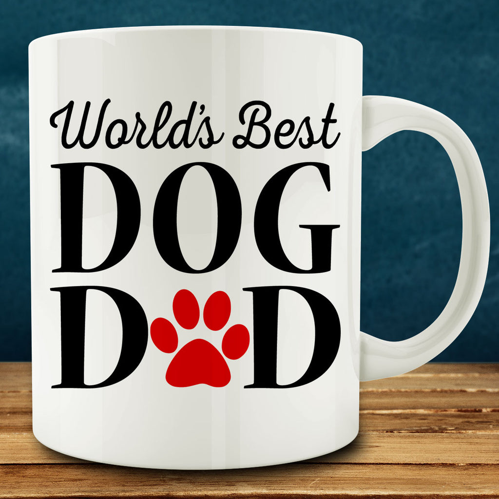 World's Best Dog Dad Mug, 11 oz white ceramic coffee tea